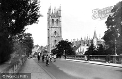 Oxford, Magdalen College From The Bridge 1938