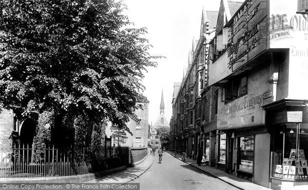 Photo of Oxford, Ship Street And Exeter College Chapel 1922