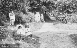 Oxshott, People In The Woods 1904