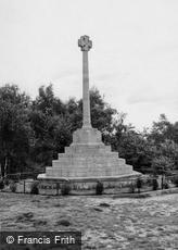 Oxshott, War Memorial on the Heath c1955