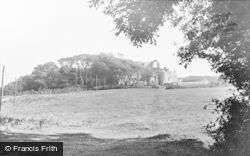 Oxwich, Castle c.1960