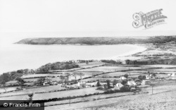 Oxwich, The Bay From Cefn Bryn c.1965
