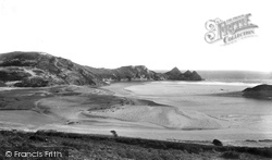 Oxwich, Three Cliffs Bay 1893