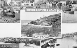 Padstow, Composite, Greetings From Padstow c.1960