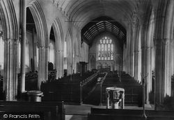 Padstow, St Petroc's Church, The Interior 1888