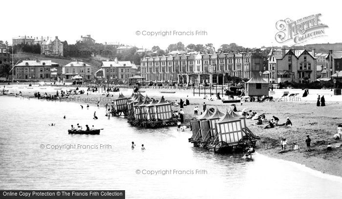 Photo of Paignton, Bathing Beach 1896