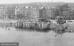 Paignton, Bathing Machines 1896