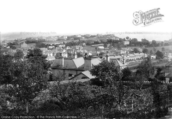 Photo of Paignton, Central Paignton And A Distant Berry Head 1894