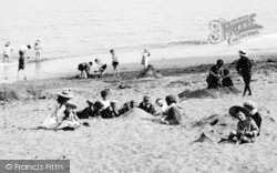 Paignton, Children On The Sands 1896