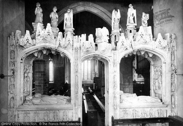 Photo of Paignton, Church Screen, Chantry Chapel 1889
