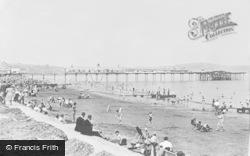 Paignton, Sands And Pier c.1955