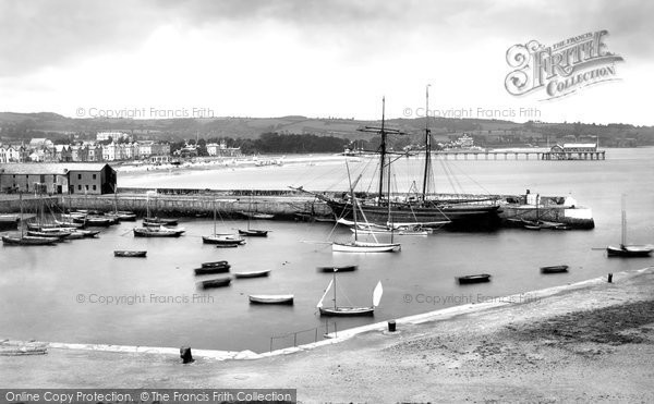Photo of Paignton, The Harbour From Above 1890