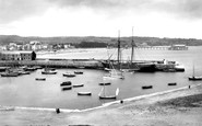 Paignton, the Harbour from above 1890