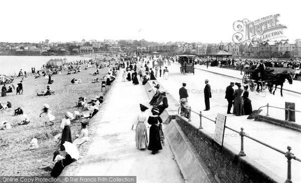 Paignton, the Promenade and Sands 1907