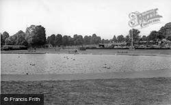 Palmers Green, Broomfield Park, Boating Lake c.1965