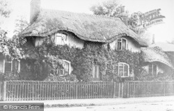 Palmers Green, The Thatched Cottage At The Triangle 1884