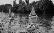 Pangbourne, Boats On The River Thames c.1960