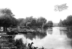 Pangbourne, From Below Swan Hotel 1890
