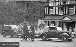 Pangbourne, Policemen And A Hillman Minx Car c.1955