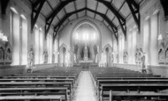 Pantasaph, the Chapel interior, St Clare's Convent c1933