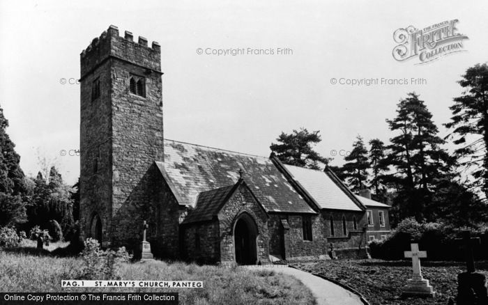 Photo of Panteg, St Mary's Church c.1955