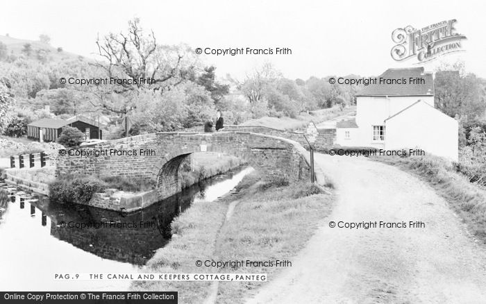 Photo of Panteg, The Canal And Keepers Cottage c.1960