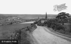 Hill And Village c.1955, Parbold