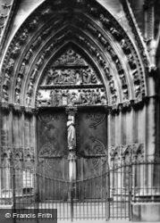 Notre-Dame, Doorway c.1930, Paris