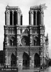 Notre-Dame, Facade c.1925, Paris