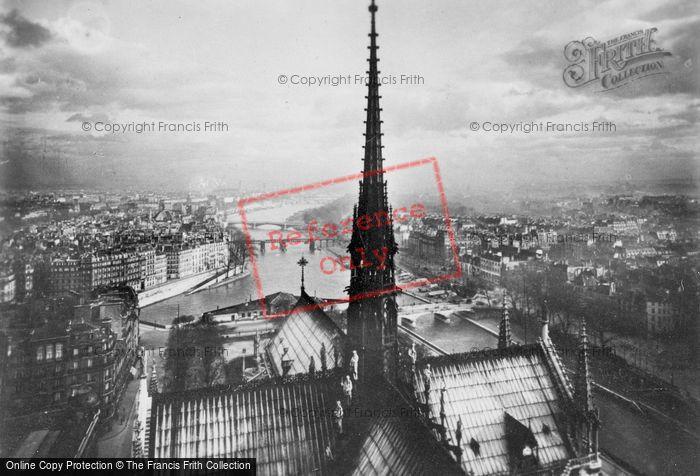 Photo of Paris, Notre Dame, Roof Line c.1930