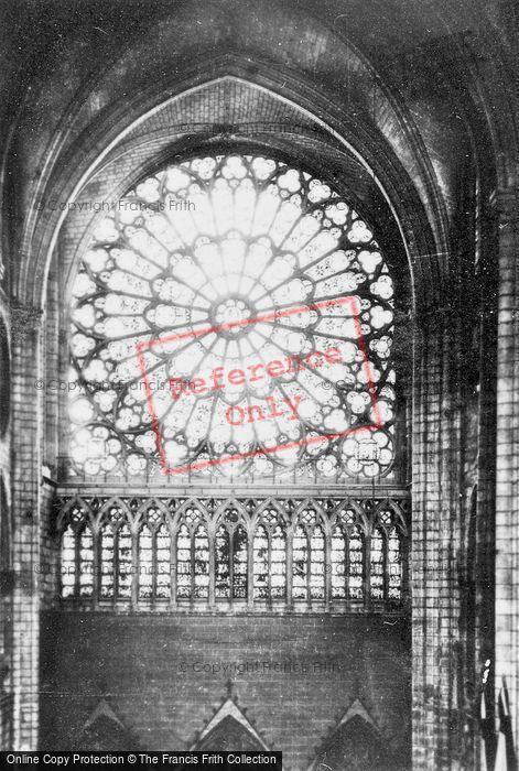 Photo of Paris, Notre Dame, Rose Window c.1930
