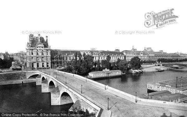 Photo of Paris, River Seine And Tuileries From Pont Royal c.1871