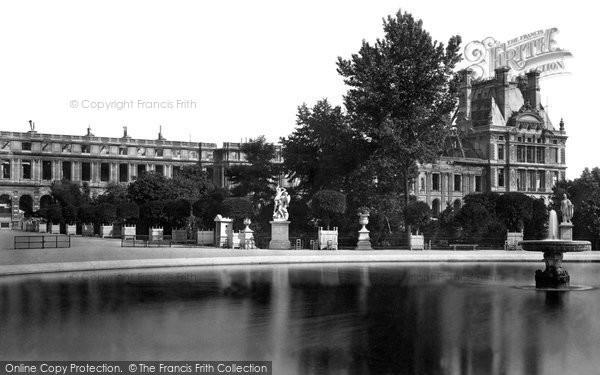 Photo of Paris, Tuileries Gardens And Palace c.1871