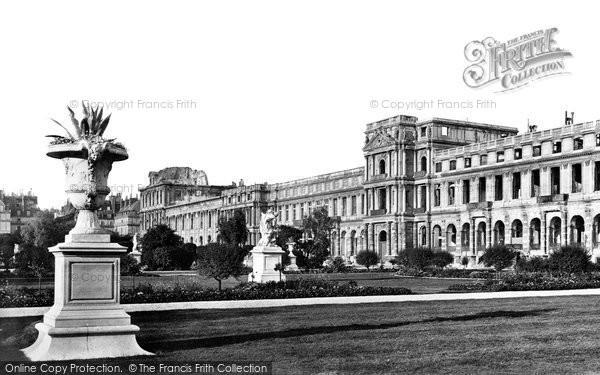 Photo of Paris, Tuileries Gardens And Palace c.1871