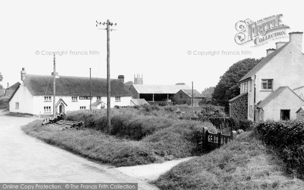 Parkham, view from Buckland Road c1955