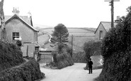 Parracombe, Cross Roads and Hill c1950