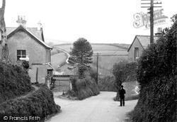 Cross Roads And Hill c.1950, Parracombe
