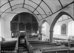 St Petrock's Church (10th Century), The Nave c.1950, Parracombe