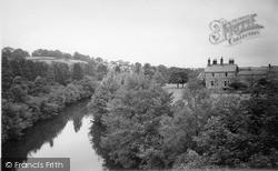 Pateley Bridge, The River c.1955