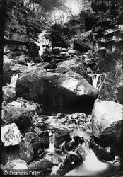 Pateley Bridge, Wath Waterfall 1893