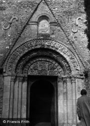 Patrixbourne, St Mary's Church, Norman Doorway 1954