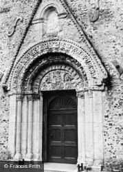 Patrixbourne, The Norman Doorway, St Mary's Church c.1955