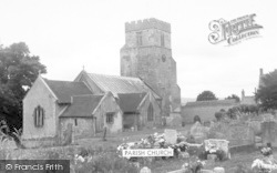 Pawlett, Parish Church c.1955