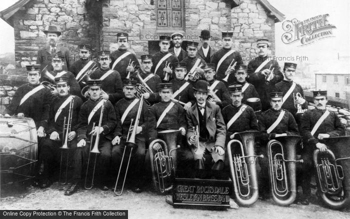 Photo of Peak Dale, Great Rocksdale Wesleyan Brass Band c.1900