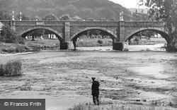 Peebles, Fishing On The River Tweed c.1935