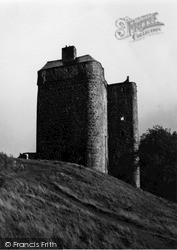 Peebles, Neidpath Castle Ruins 1950