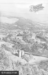 Peebles, Neidpath Castle, The River Tweed And The Town c.1935