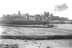 Peel, Castle From The Beach 1893