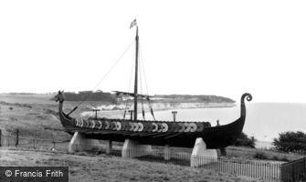 Pegwell, the Danish Viking Ship, 'Hugin' c1960