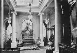Pell Wall Hall, The Entrance Hall North 1911, Pell Wall